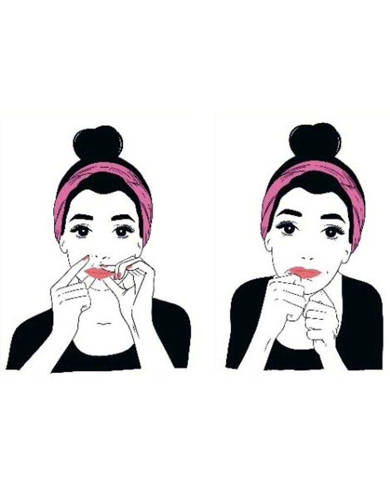 Massage kobido pour les lèvres
