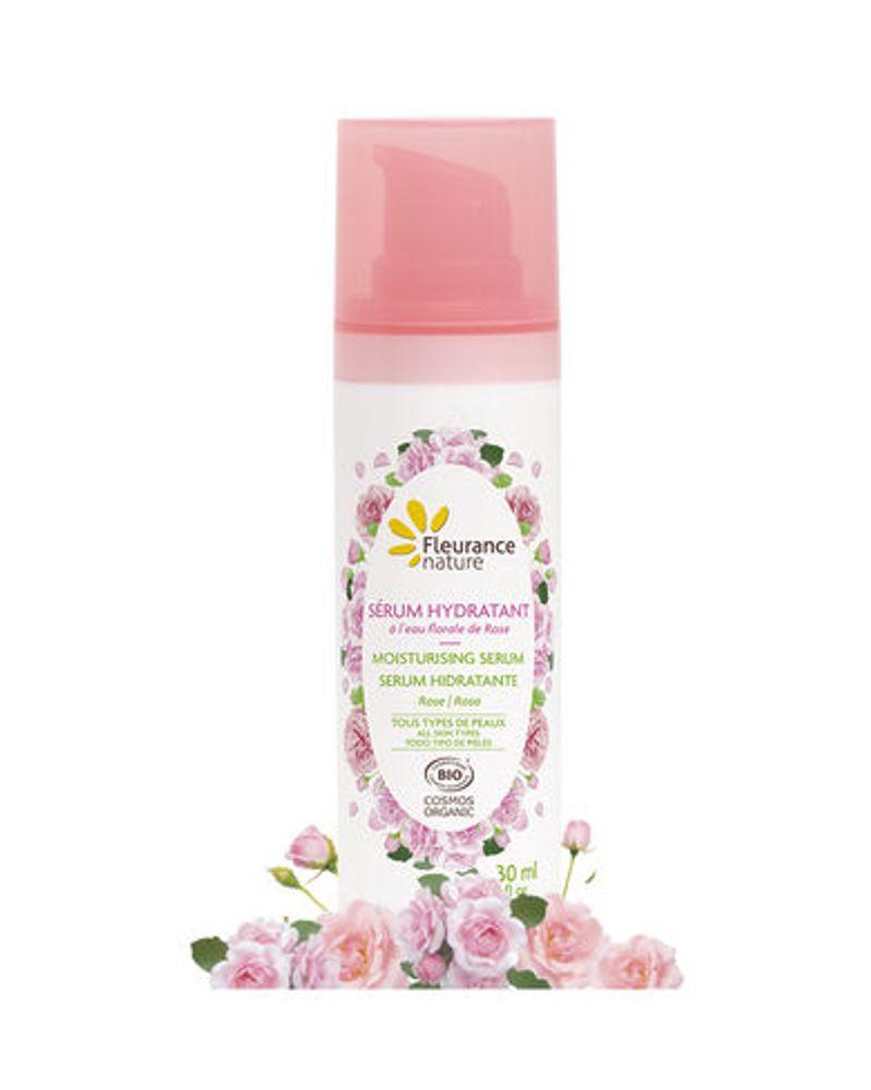 Sérum hydratant à l'eau florale de Rose, Fleurance nature