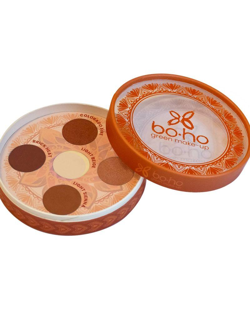 Boho Green Make-Up, palette de 5 ombres à paupières