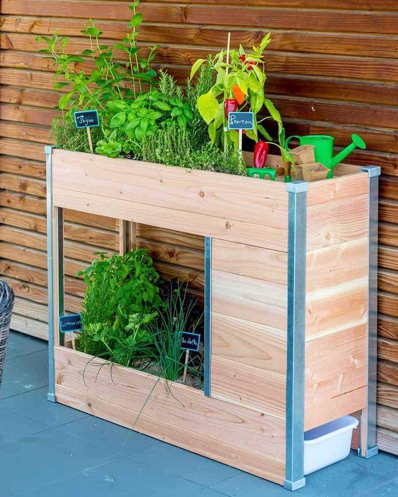 Balcomposteur - Potager en bois avec composteur intégré, Jardins Animés