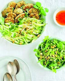 Fish cakes & salade concombre-courgette