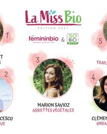 La Miss Bio 2021 : les résultats du podium