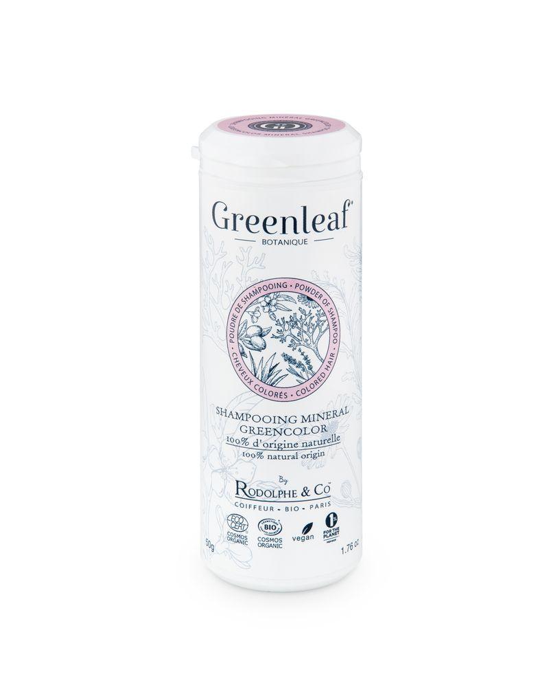 Greenleaf botanique, shampooing Green color à la poudre de coquille d'huître