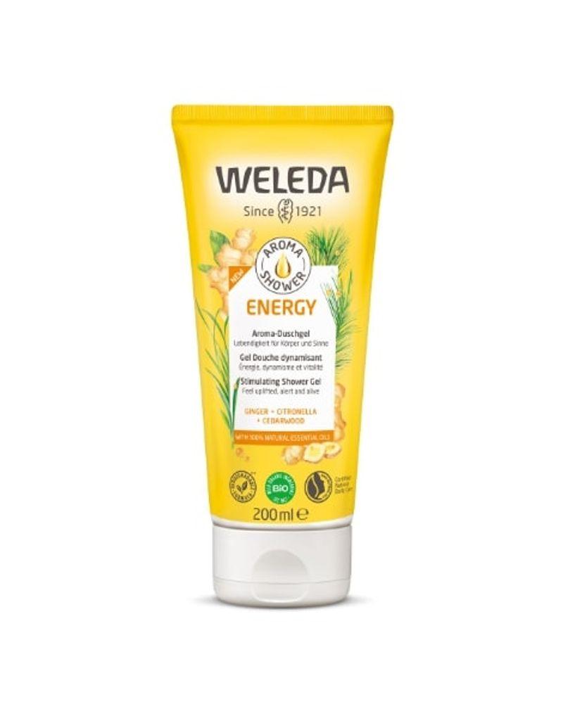 "Weleda, gel douche dynamisant Aroma-Shower ""Energy"" au gingembre"