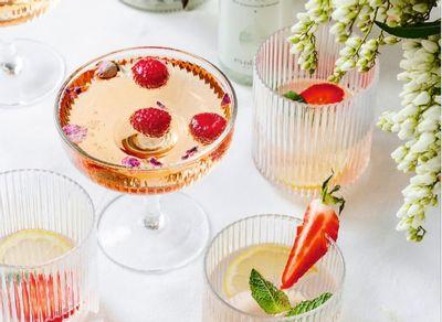 Ispahan, cocktail végan au champagne