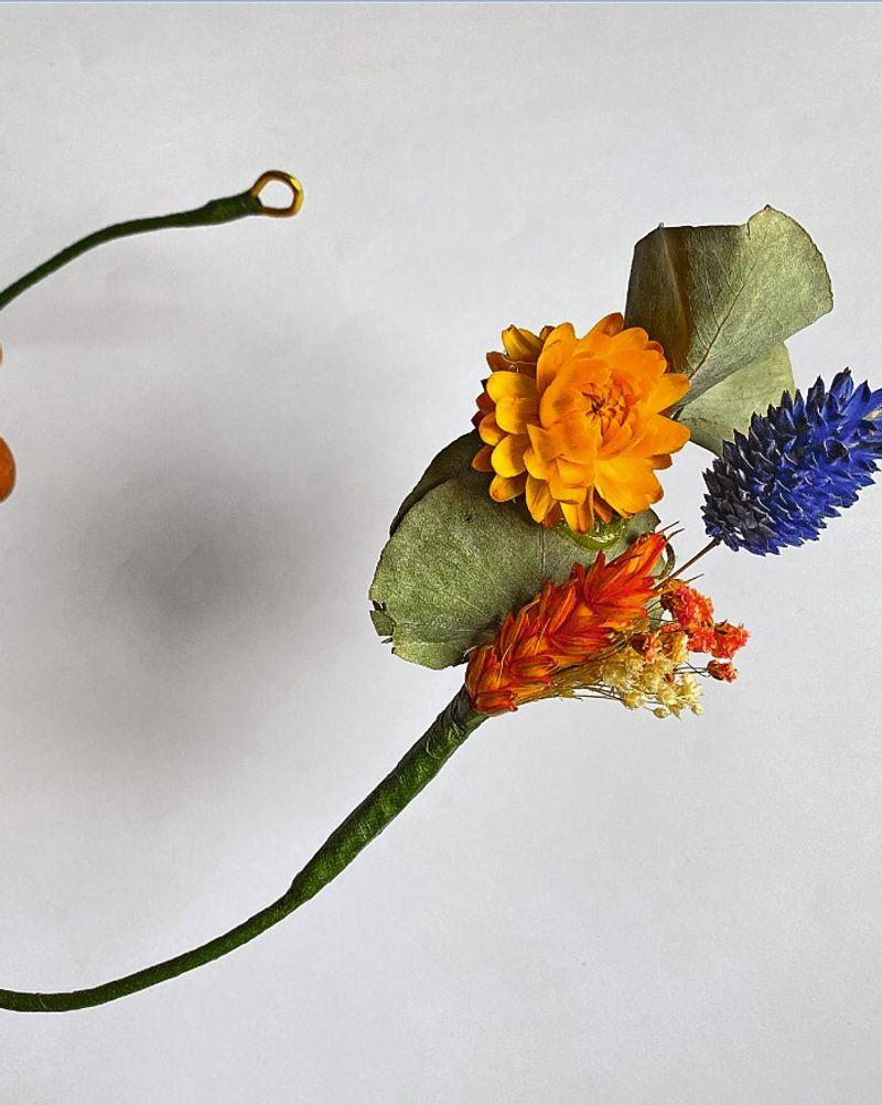 Couronne fleurs étape 4