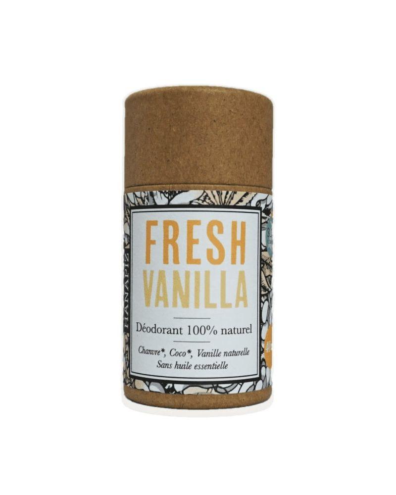 Hanapiz, Fresh Vanilla, déodorant naturel au chanvre