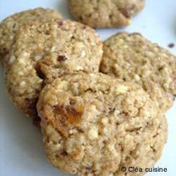 Cookies épeautre, noisettes et abricots