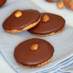 Biscuits sablés à la crème de marrons & chocolat noir