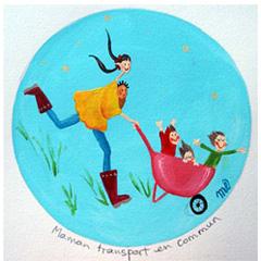 Maman transport en commun